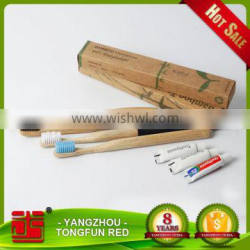 Compact size bulk bamboo toothbrush with natural ingredients daliy use bamboo
