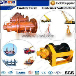 mechanical winch for lifting powerd by electric hydraulic pneumatic