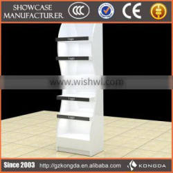 colorful acrylic cosmetic rack stand commercial bottle shaped showroom interior design make up rack