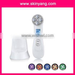 new Ion and Photon Skin Rejuvenation Rechargeable Beauty Device with Iontophoresis easy to operation