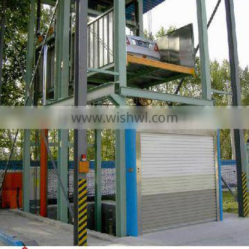 China supplier offers cheap best selling lead rail type hydraulic cargo elevator lift