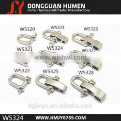Stainless Steel shackle clip , anchor chain kenter shackle
