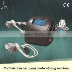 """Cool Shape Machine Top-selling 3 Handles Cryotherapy Machine Professional 3.5"""" Screen Cryolipolysis Device For Neck And Face Skin Tightening Body Shaping"""