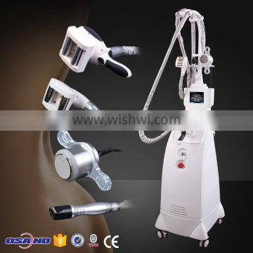 Combine Vacuum suction + Radiofrequency RF + Infrared Light + massage roller body vacuum suction machine
