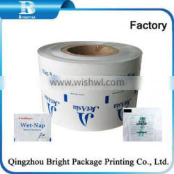 Factory Aluminum foil paper for dry wet screen cleaning wipes OEM welcomed Aluminum Foil paper refreshing airline wet wipes