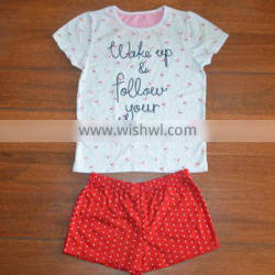 OEM services 2015 fashion cute children girls suit T-shirt striped bowknot pants, children clothes