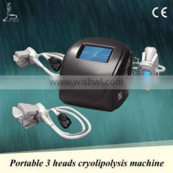 Hot sale cryolipolysis slimming device 3 heads for different body parts