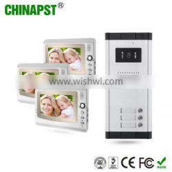 7'' TFT LCD Video Door Phone With 3 Indoor Monitor Connection Apartment Building Video Intercom PST-VDO1-3K