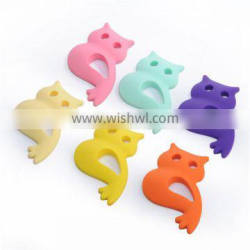 2016 New Design Hot Selling Owl Shaped Baby Teether Silicone Baby Teether