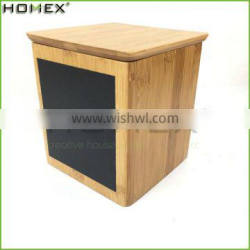 Bamboo Kitchen Food Canister w Reusable Chalkboard Homex BSCI/Factory