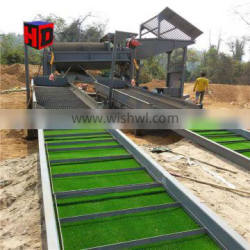 China Mobile Gold Trommel Wash Plant With Sluice Box For Sale