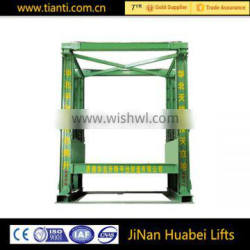 warehouse the price of load 5 ton freight elevator guide rail type hydraulic cargo lift
