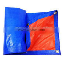 For Wood Stack Cover Corrosion Resistant Blue Orange Tarpaulin