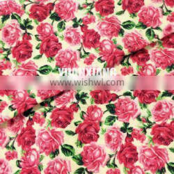 floral fabric in custom design print fabric for dress inT90/C10