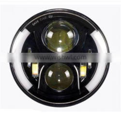 7 inches 50w Round high/low beam with Angle eye led headlight for Jeep Wrangler, Harley and Hummer