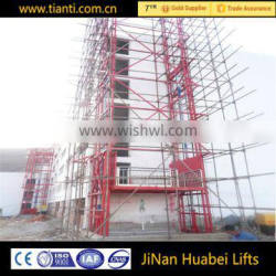 electric guide rail hydraulic cargo platform lift outer layer of building elevators for warehouse