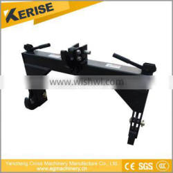 Agricultural machine tractor hitch with 3 point