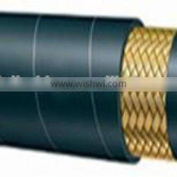 One steel wire braided hydraulic rubber hose in good quality