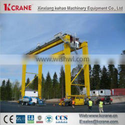 Rubber Tyre Gantry Crane with trolley