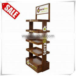 Brand new mixed style metal display with wood cover display watch