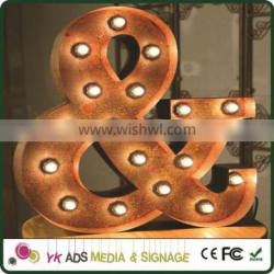 rusty metal letter Decoration Letters