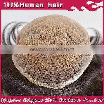 Hot sale next day deliverygrade 5A remy indian hair cheap bleach knots swiss lace toupee for men