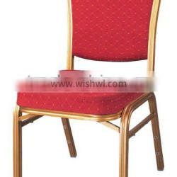 Modern Stackable Wedding Party Decoration Metal Aluminum Hotel banquet hall chairs
