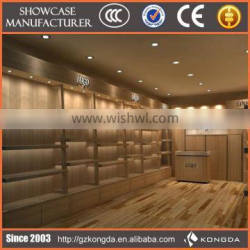 Simplfy style wooden decoration fixture shoe store shelves