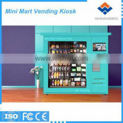 High technology push and elevator system vending kiosk