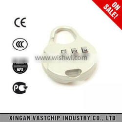high quality and top security Fashion Silver safety Combination Padlock for travel