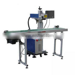 High quality and durable AI PLT DXF BMP DST DWG LAS supported plastic flying fiber laser marking machine price