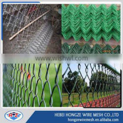 Galvanized chain link fence used in protecing road