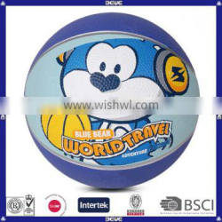 Promotion Use Rubber Basketball with customized logo&color