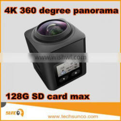 Newest 4K action camera 360 degree wifi sd 128g max full hd 1080P action camera mini cube