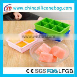 silicone ice cube making