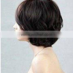 """High quality beauty style 12"""" body curl Indian remy human hair glueless full lace short wig,accept escrow payment Quality Choice"""