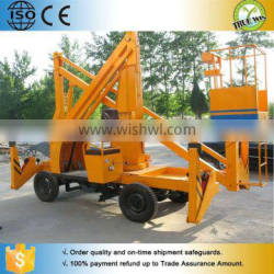 Trailer triangle articulated folding arm lift