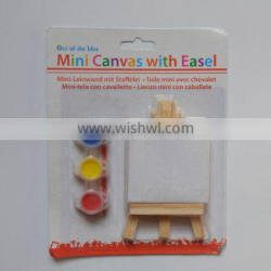 Wooden kids mini easel and canvas set