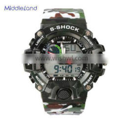 Sport stainless steel watch with electronic movement for men waterproof watch