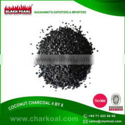 Top Quality 4/8 Mesh Size Granulated Shell Coconut Charcoal