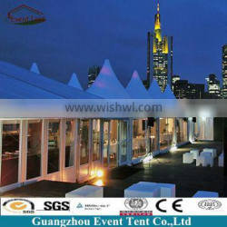 Guangzhou trade luxury hotel tent rental, glass walls marquee hotel tent for sale