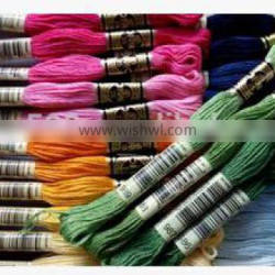 15060807 Hot Sale DIY Colorful Cotton Thread 100% polyester sewing thread