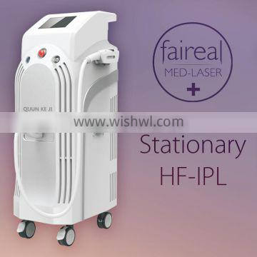 IPL Hair Removal Machine / Beauty Equipment For Treatment Age Spots And Capillaries E light
