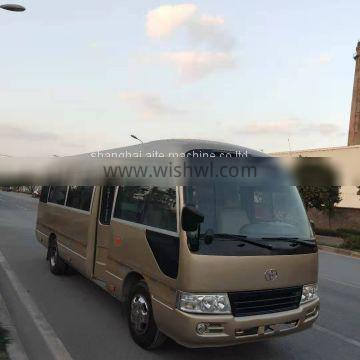 cheap price 2016 used toyota coaster bus with diesel engine and 30 seats for sale in shanghai ,china