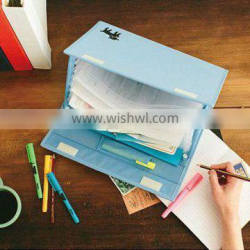 new design polyester A4 documents file holder with stand bar