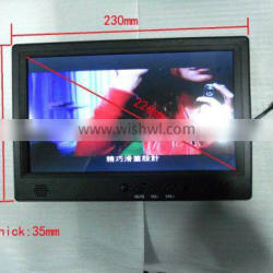 9 inch LCD loop video AD player with IR motion sensor & split screen display function