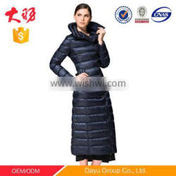 V stand duck down jacket big collar polyester fabric making for ultra light down jacket