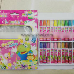 2015 Factory direct sale 24 color crayon oil pastel promotional stationery