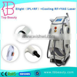 best professional e-light ipl q switched nd yag laser tattoo removal machine with cooling RF