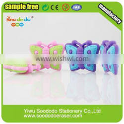 Extruded Butterfly Eraser With Printing